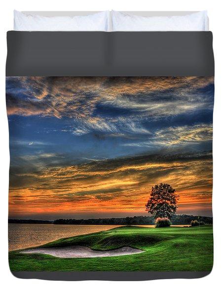 No Better Day Golf Landscape Art Duvet Cover