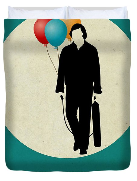 No Country For Old Man Poster 2 Duvet Cover by Naxart Studio