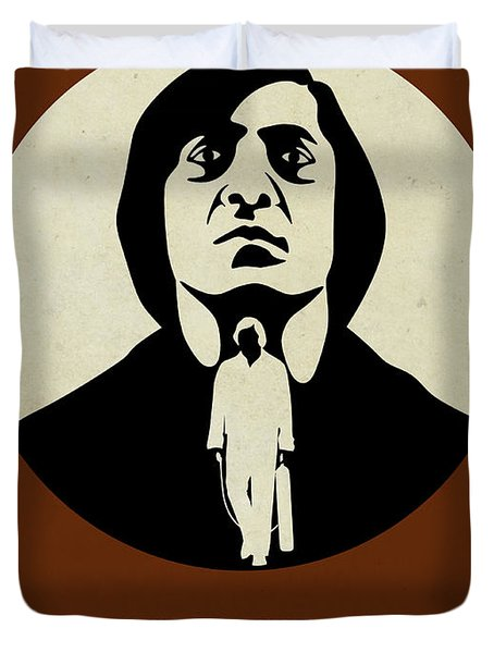 No Country For Old Man Poster Duvet Cover by Naxart Studio