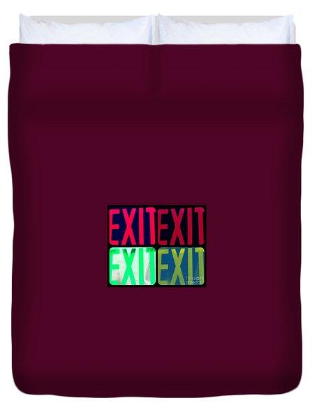 No Exit Duvet Cover