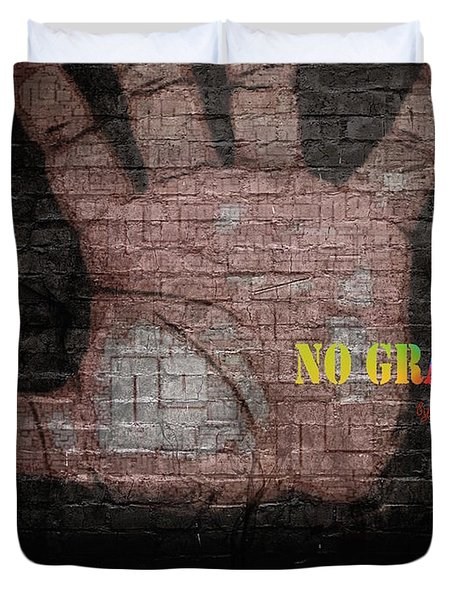 No Graffiti Duvet Cover by ISAW Gallery