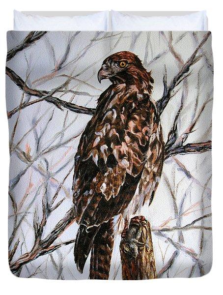 No Hunting Duvet Cover by Craig T Burgwardt