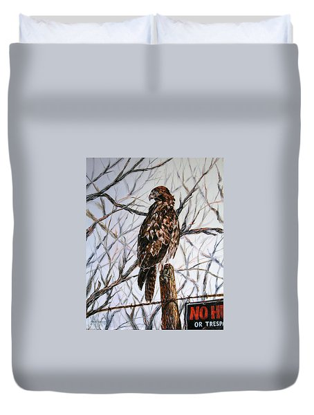 No Hunting Duvet Cover