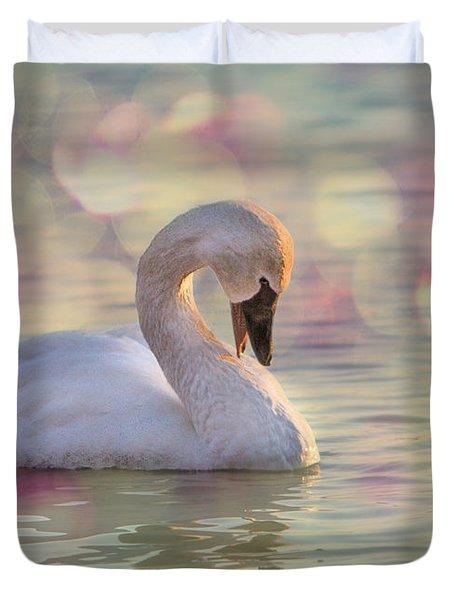 Shy Swan Duvet Cover