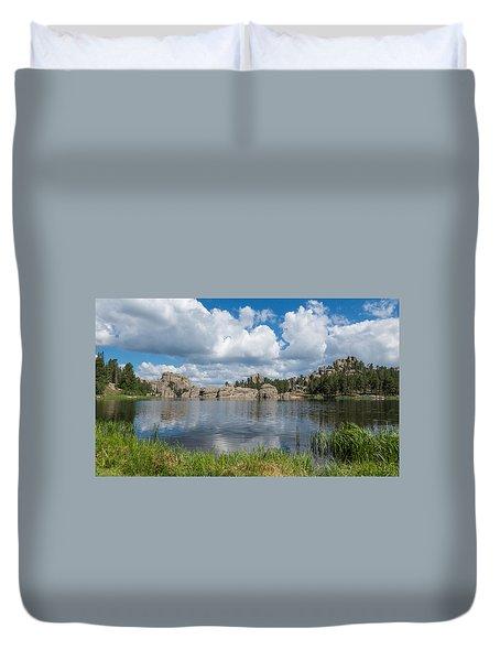 Duvet Cover featuring the photograph Sylvan Lake South Dakota by Patti Deters