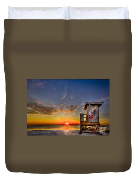 No Life Guard On Duty Duvet Cover