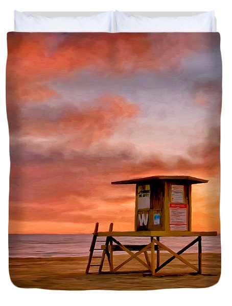 No Lifeguard On Duty At The Wedge Duvet Cover