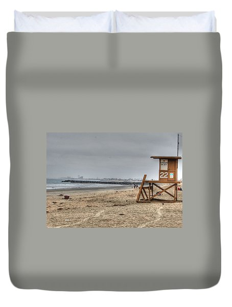 No Lifeguard On Duty Duvet Cover