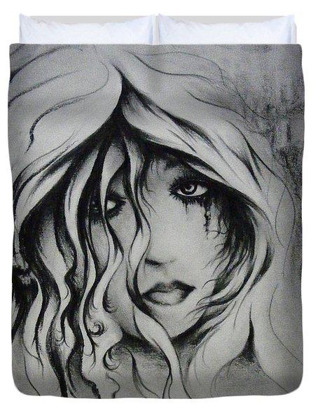 No More Tears Duvet Cover by Rachel Christine Nowicki