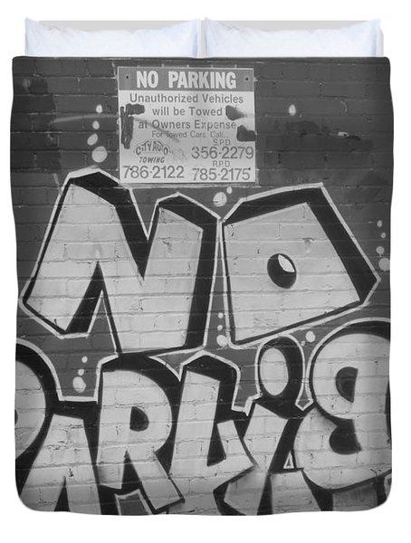 No Parking Duvet Cover