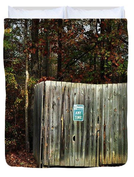 No Parking Duvet Cover by Paulette B Wright