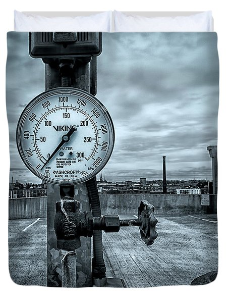 No Pressure Or The Valve At The Top Of The City  Duvet Cover by Bob Orsillo