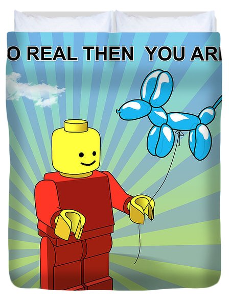 No Real Then You Are Duvet Cover by Mark Ashkenazi