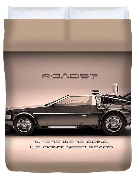 No Roads Duvet Cover