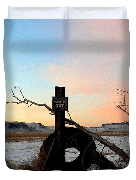 No Trespassing Duvet Cover by Desiree Paquette