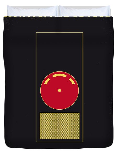 No003 My 2001 A Space Odyssey 2000 Minimal Movie Poster Duvet Cover by Chungkong Art