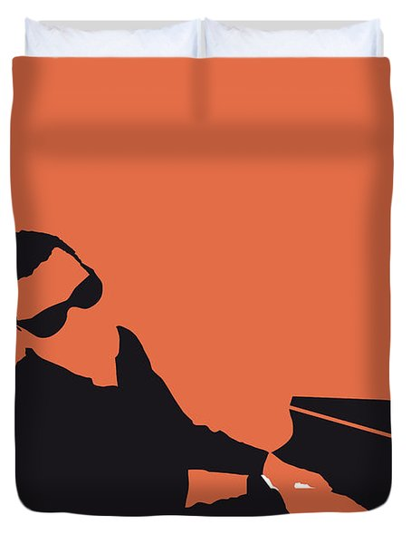 No003 My Ray Charles Minimal Music Poster Duvet Cover
