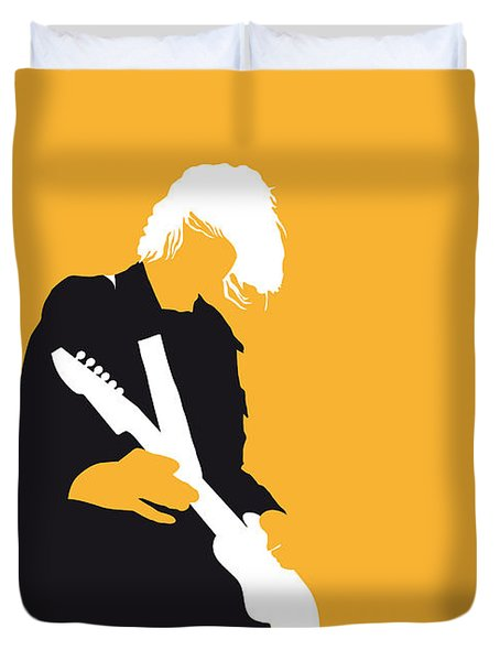 No004 My Nirvana Minimal Music Poster Duvet Cover