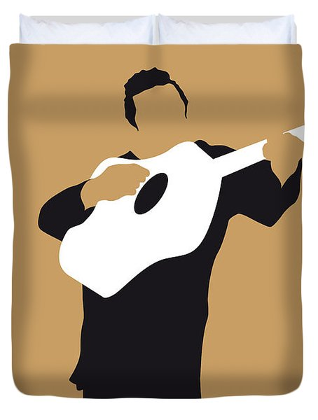 No010 My Johnny Cash Minimal Music Poster Duvet Cover by Chungkong Art