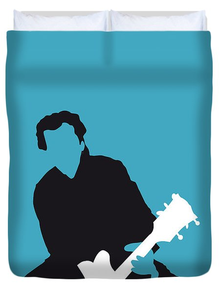 No015 My Chuck Berry Minimal Music Poster Duvet Cover by Chungkong Art