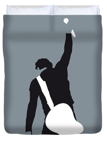 No017 My Bruce Springsteen Minimal Music Poster Duvet Cover