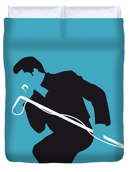 No018 My James Brown Minimal Music Poster Duvet Cover