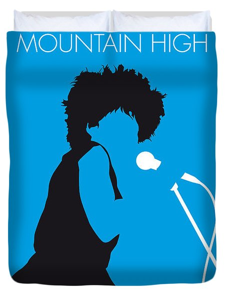 No019 My Tina Turner Minimal Music Poster Duvet Cover