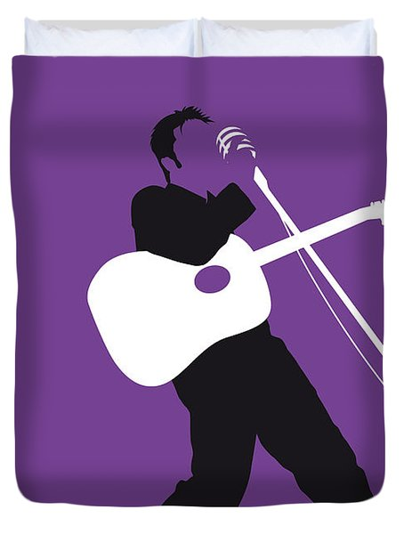 No021 My Elvis Minimal Music Poster Duvet Cover