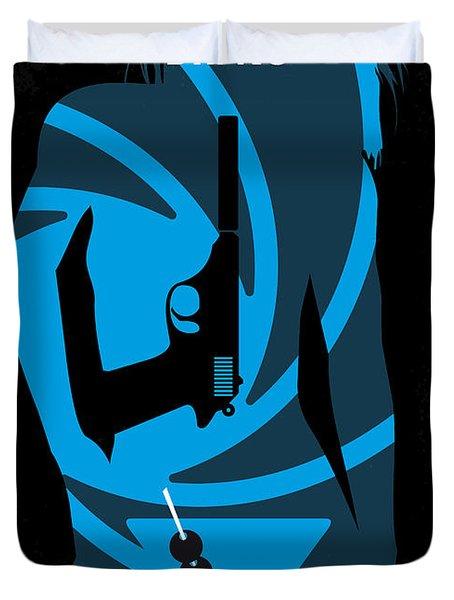 No024 My Dr No James Bond Minimal Movie Poster Duvet Cover