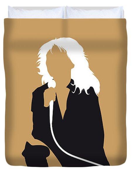 No030 My Blondie Minimal Music Poster Duvet Cover