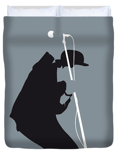 No037 My Tom Waits Minimal Music Poster Duvet Cover