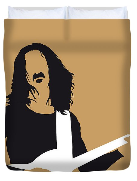 No040 My Frank Zappa Minimal Music Poster Duvet Cover