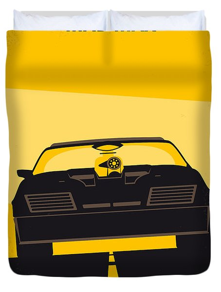 No051 My Mad Max Minimal Movie Poster Duvet Cover