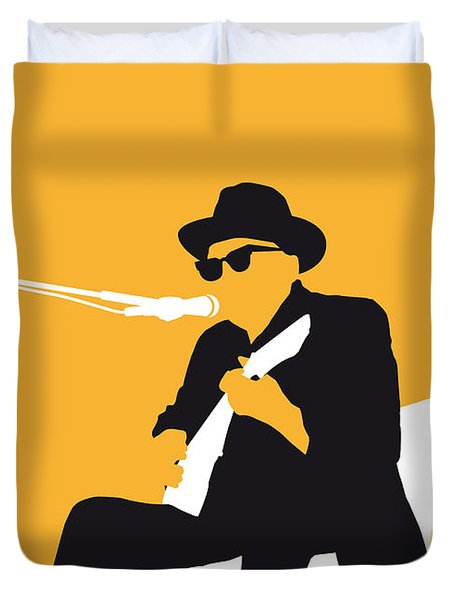 No054 My Johnny Lee Hooker Minimal Music Poster Duvet Cover