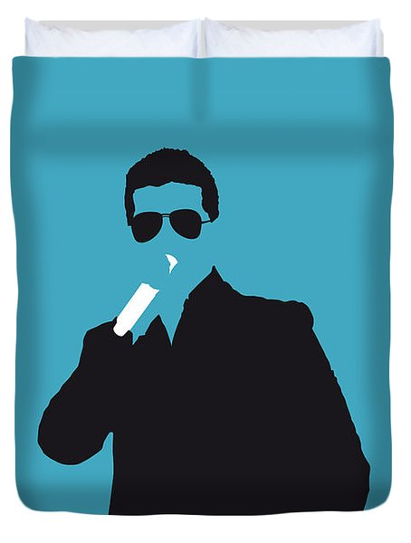 No055 My Robin Thicke Minimal Music Poster Duvet Cover