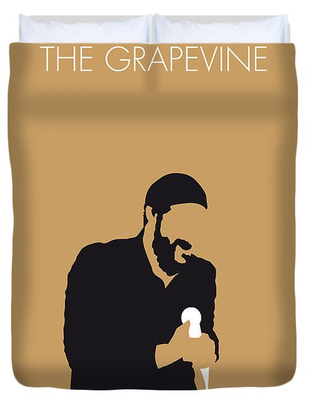 No060 My Marvin Gaye Minimal Music Poster Duvet Cover