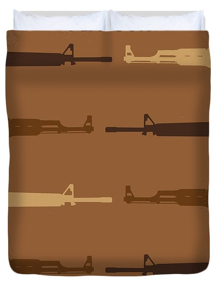 No115 My Platoon Minimal Movie Poster Duvet Cover by Chungkong Art