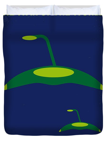 No118 My War Of The Worlds Minimal Movie Poster Duvet Cover