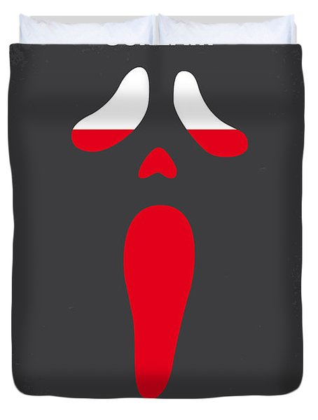 No121 My Scream Minimal Movie Poster Duvet Cover