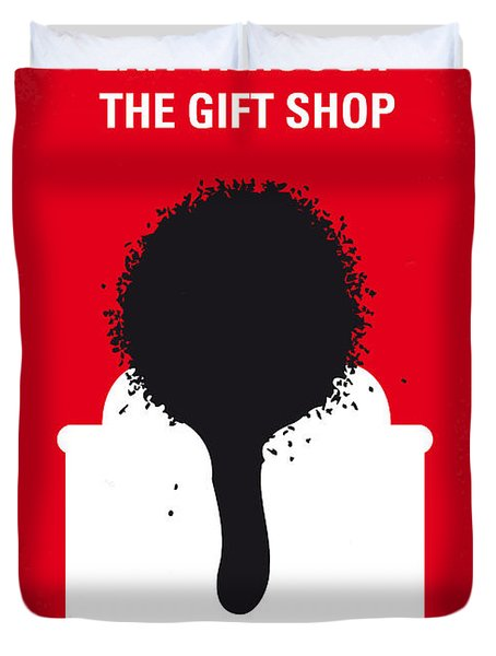 No130 My Exit Through The Gift Shop Minimal Movie Poster Duvet Cover by Chungkong Art