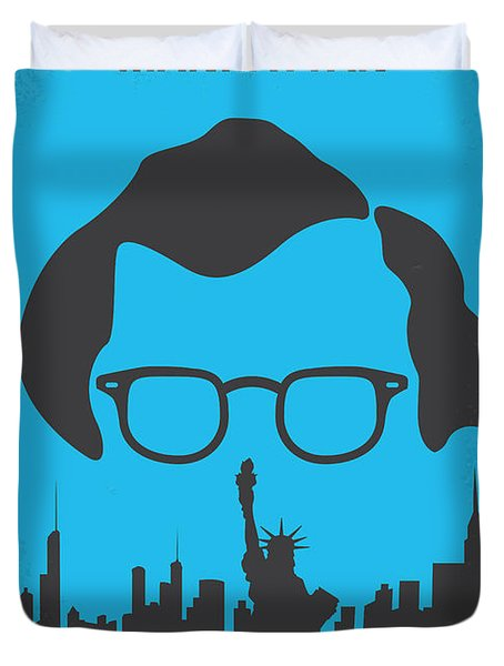 No146 My Manhattan Minimal Movie Poster Duvet Cover