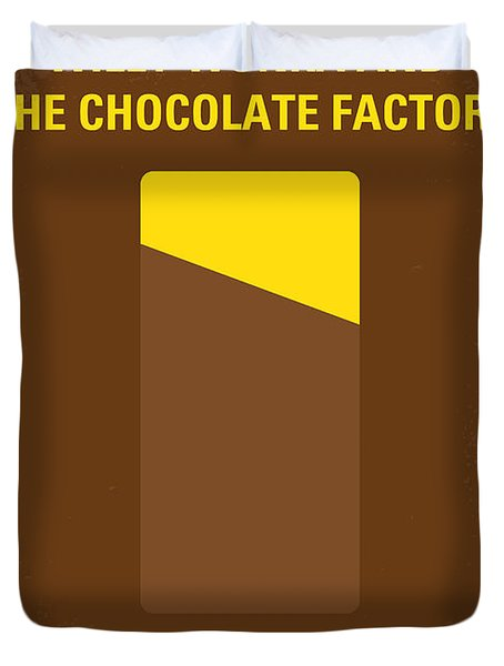 No149 My Willy Wonka And The Chocolate Factory Minimal Movie Poster Duvet Cover by Chungkong Art