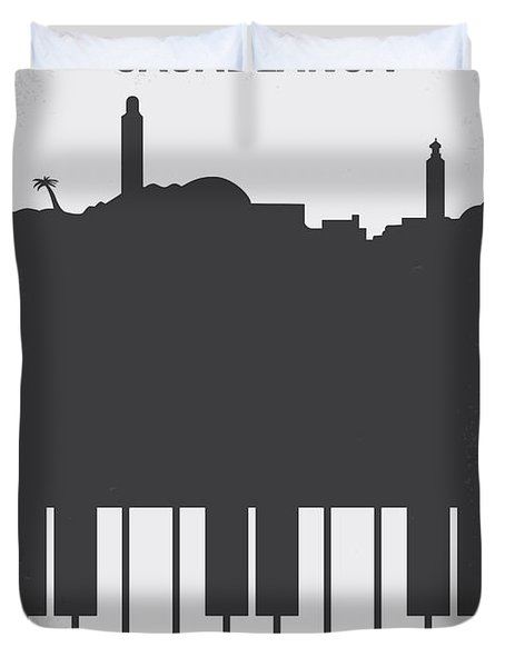 No192 My Casablanca Minimal Movie Poster Duvet Cover by Chungkong Art