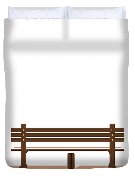 No193 My Forrest Gump Minimal Movie Poster Duvet Cover by Chungkong Art