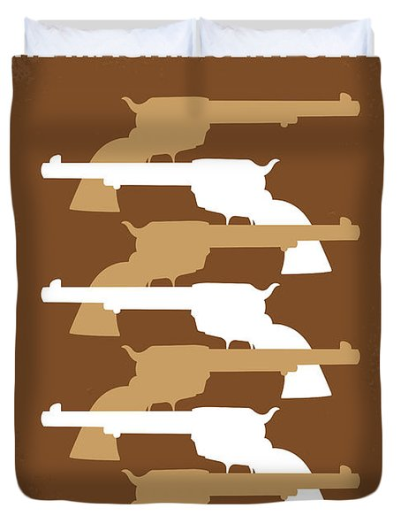 No197 My The Magnificent Seven Minimal Movie Poster Duvet Cover by Chungkong Art