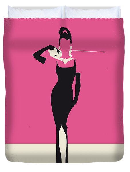 No204 My Breakfast At Tiffanys Minimal Movie Poster Duvet Cover