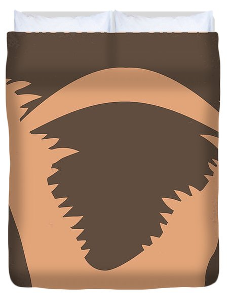 No210 My Crocodile Dundee Minimal Movie Poster Duvet Cover by Chungkong Art