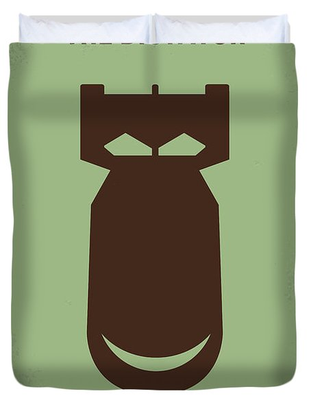 No212 My The Dictator Minimal Movie Poster Duvet Cover by Chungkong Art