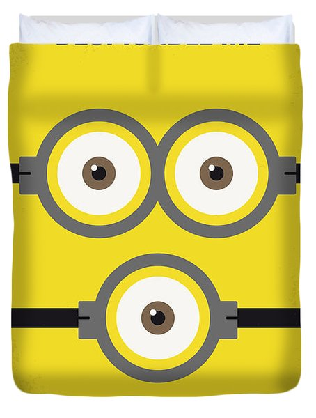 No213 My Despicable Me Minimal Movie Poster Duvet Cover by Chungkong Art