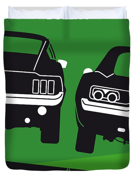 No214 My Bullitt Minimal Movie Poster Duvet Cover by Chungkong Art
